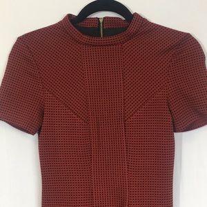 Topshop Short Sleeve Mini Dress